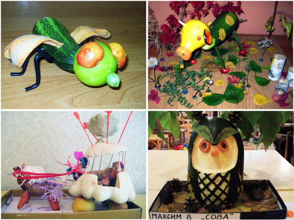 Поделки из овощей и фруктов с инструкция фото8